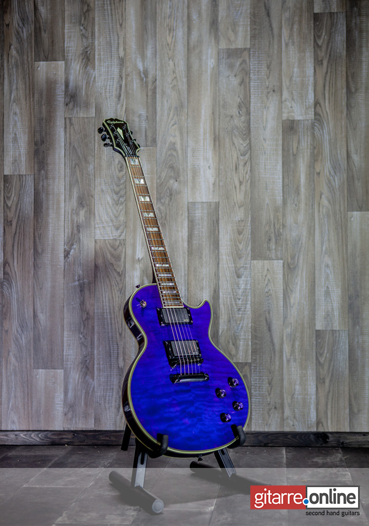 Epiphone_Les_Paul_Custom_Prophecy_Plus_Midnight_Saphire_front